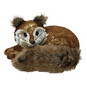 """Northlight 16.5"""" Fox Lying Down Christmas Table Figure - Brown and Gold"""