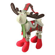 """Northlight 25"""" Nordic Plaid Reindeer Christmas Tabletop Figurine - Red and Green"""