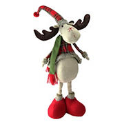 """Northlight 28.5"""" Plaid 2 Leg Standing Deer - Red and Green"""