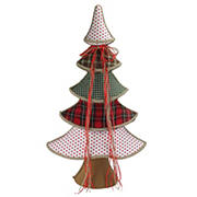 """Northlight 31.5"""" Plaid Whimsical Christmas Tree Decoration - Red and Green"""