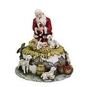 """Roman 6"""" Joseph's Studio Kneeling Santa with Jesus Musical Christmas Figure"""