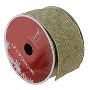 """Northlight 2.5"""" x 10 Yards Christmas Wired Craft Ribbons, 12 pk. - Brown"""