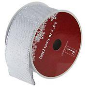 "Northlight 2.5"" x 12 Yards Burlap Wired Christmas Craft Ribbon Spools, 12 pk. - Gray"