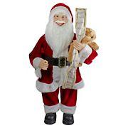 "Northlight 24"" Standing Santa Christmas Figure with Christmas Tree"