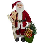 Northlight 2' Standing Santa Christmas Figure with Presents and a Naughty or Nice List