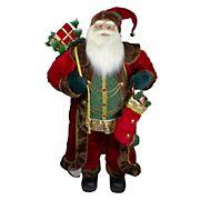Northlight 4' Standing Santa Christmas Figure with Presents