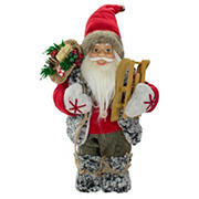 """Northlight 12"""" Standing Santa Christmas Figure Carrying Presents and a Sled"""