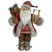 "Northlight 18"" Nordic Santa Christmas Figure with Sled"