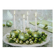 """Northlight 11.75"""" x 15.75"""" LED Lighted Sparkling Ornament Centerpiece Christmas Canvas Wall Art"""