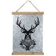 "Northlight 16"" Merry Christmas Reindeer Galvanized Sheet Metal Hanging Wall Sign"