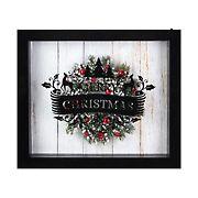 "Northlight 14"" Framed 3D ""Merry Christmas"" LED Christmas Box Decor - Black"
