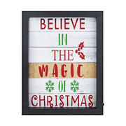 """Northlight 9"""" LED Lighted 'Believe in the Magic of Christmas' Shadow Box Wall Art"""