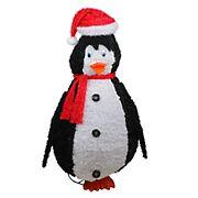 "Sterling 48"" Sparkling Penguin Christmas Decor - Black and White"