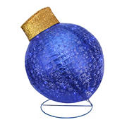"""Northlight 36"""" LED Twinkling Glittered Christmas Ball Ornament Outdoor Yard Decor - Blue"""