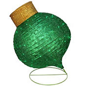"""Northlight 36"""" LED Lighted Twinkling Glitter Onion Ornament Christmas Outdoor Decoration - Green"""