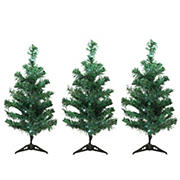 Northlight LED Lighted Christmas Tree Driveway and Pathway Markers, 3 pc. - Green
