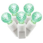 Vickerman 33' Commercial Grade LED G12 Berry Christmas Lights - Green