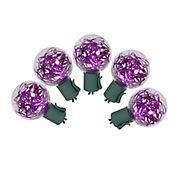 Vickerman 25' LED G40 Tinsel Christmas Lights - Pink