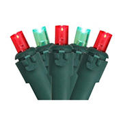 Brite Star 50' LED Wide Angle Christmas Lights - Red