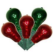 Vickerman 9' Transparent Mini Christmas Light Set, 10 ct. - Red