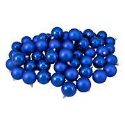 "Northlight 2.5"" Shatterproof 2-Finish Christmas Ball Ornaments, 60 ct. - Sapphire Blue"