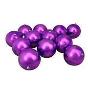 "Northlight 4"" Shatterproof Shiny Christmas Ball Ornaments, 12 ct. - Purple"