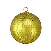 "Northlight 8"" Mirrored Gold Glass Christmas Disco Ball Ornament"