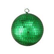"Northlight 8"" Shiny Mirrored Disco Christmas Ball Ornament - Green"