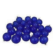 "Northlight 3.25"" Shatterproof Transparent Christmas Ball Ornaments, 32 ct. - Blue"