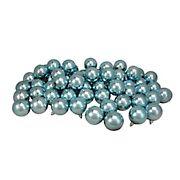 "Northlight 2.5"" Shatterproof Shiny Christmas Ball Ornaments, 60 ct. - Mermaid Blue"