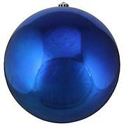 "Northlight 10"" Shatterproof Christmas Ball Ornament - Shiny Lavish Blue"