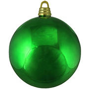 """Northlight 12"""" Shatterproof Commercial Size Christmas Ball Ornament - Shiny Christmas Green"""