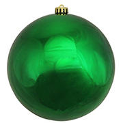 "Northlight 8"" Shatterproof Commercial Christmas Ball Ornament - Shiny Green"