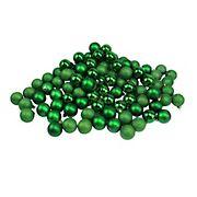 "Northlight 1.5"" Shatterproof 4-Finish Christmas Ball Ornaments, 96 ct. - Christmas Green"