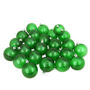 "Northlight 2.5"" Shatterproof Transparent Christmas Ball Ornaments, 60 ct. - Green"