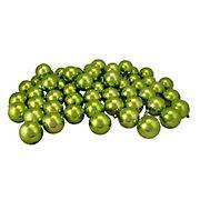 "Northlight 2.5"" Shatterproof Shiny Christmas Ball Ornaments, 60 ct. - Kiwi Green"