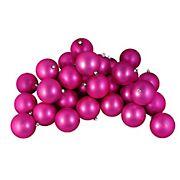 "Northlight 4"" Shatterproof Matte Christmas Ball Ornaments, 12 ct. - Pink"