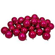 "Northlight 3.25"" Shatterproof Shiny Christmas Ball Ornaments, 32 ct. - Magenta Pink"