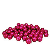 "Northlight 2.5"" Shatterproof Shiny Christmas Ball Ornaments, 60 ct. - Magenta Pink"
