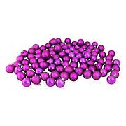 "Northlight 1.5"" Shatterproof 4-Finish Christmas Ball Ornaments, 96 ct. - Purple"