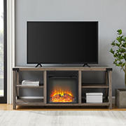 """W. Trends 60"""" Fireplace Console - Gray Wash"""