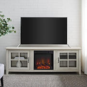 """W. Trends 70"""" Fireplace TV Console for TVs up to 85""""  - Birch"""