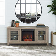 """W. Trends 58"""" Traditional Electric Fireplace TV Stand for TVs up to 65"""" - Driftwood"""
