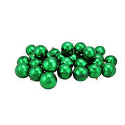 "Northlight Shatterproof 3.25"" Christmas Ball Ornaments, 32 ct. - Shiny Xmas Green"