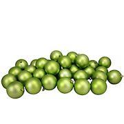 "Northlight Shatterproof Christmas Ball Ornaments 3.25"", 32 ct. - Matte Kiwi Green"
