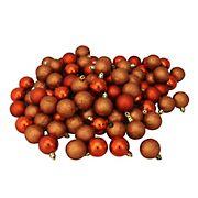 "Northlight Shatterproof 4-Finish 1.5"" Christmas Ball Ornaments, 96 ct. - Burnt Orange"