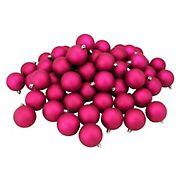 "Northlight Shatterproof Matte 3.25"" Christmas Ball Ornaments, 32 ct. - Magenta Pink"