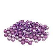 "Northlight Shatterproof 4-Finish 1.5"" Christmas Ball Ornaments, 96 ct. - Purple"