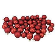 """Northlight Shatterproof 2-Finish 2"""" Christmas Ball Ornaments, 50 ct. - Red"""