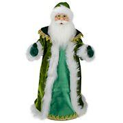 "Northlight 18"" Green and White Irish Christmas Santa Claus Tree Topper - Unlit"